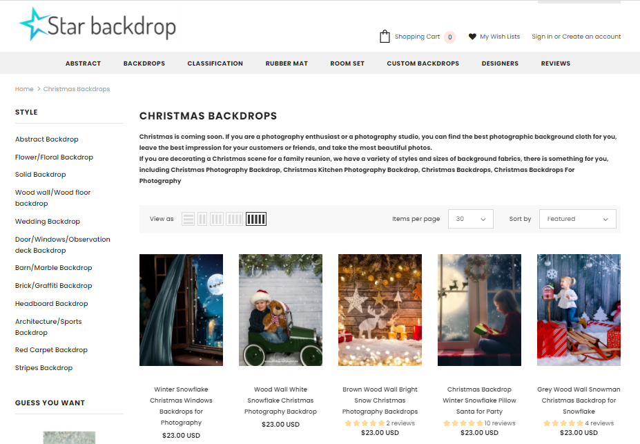 Starbackdropcollectionschristmas-backdrops